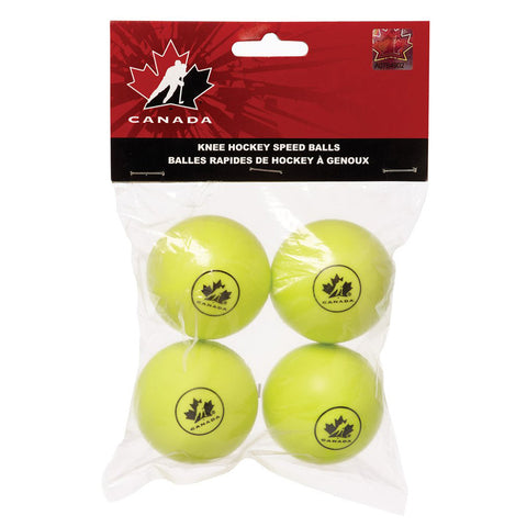 HOCKEY CANADA MINI HOCKEY SPEEDBALL YELLOW 4 PACK
