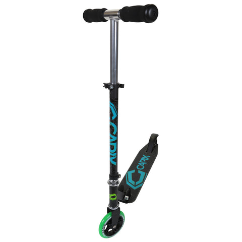 CAPIX 125MM COLLAPSABLE SCOOTER BLACK/GREEN