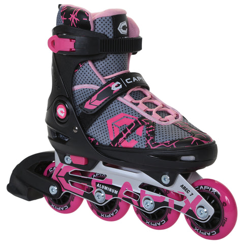 CAPIX F3 GIRLS' ADJUSTABLE INLINE SKATES SIZE 1-4
