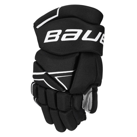 BAUER NSX YTH HOCKEY GLOVES BLACK
