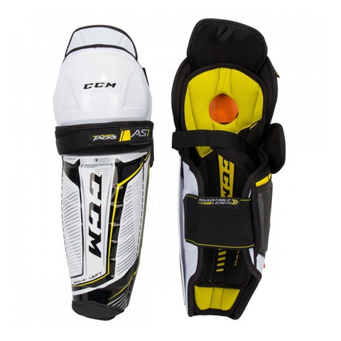 CCM SUPER TACKS AS1 YTH SHIN GUARDS
