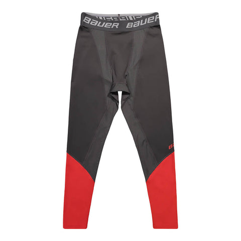 BAUER SR PRO COMPRESSION PANT DARK GREY/RED