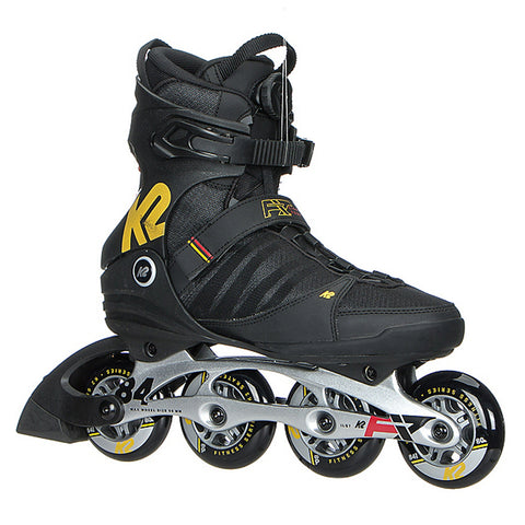 K2 FIT 84 BOA MEN'S INLINE SKATES BLACK/YELLOW/RED