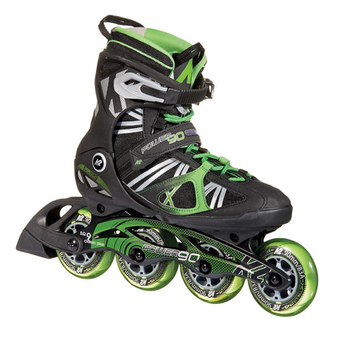 K2 POWER 90 MEN'S INLINE SKATES BLACK/GREEN