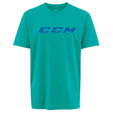 CCM YOUTH COLOUR BURST SHORT SLEEVE TEE SOLID TEAL