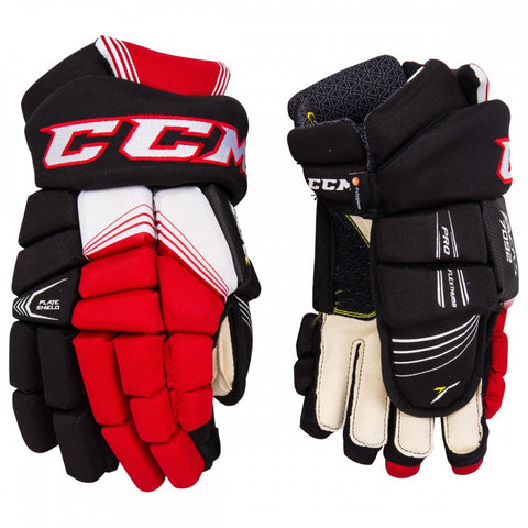 CCM 7092 JR HOCKEY GLOVES BLACK/RED/WHITE