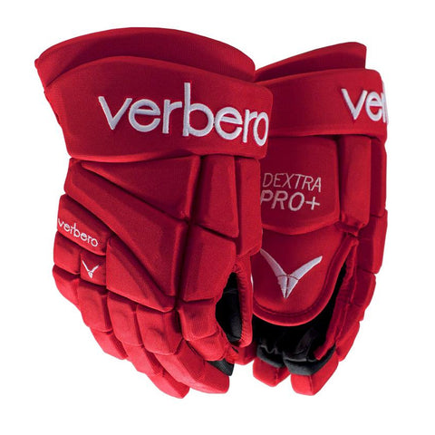 VERBERO DEXTRA PRO+ SR HOCKEY GLOVES RED