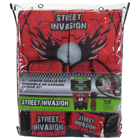 STREET INVASION STREET HOCKEY GOALIE SET 21'' RED