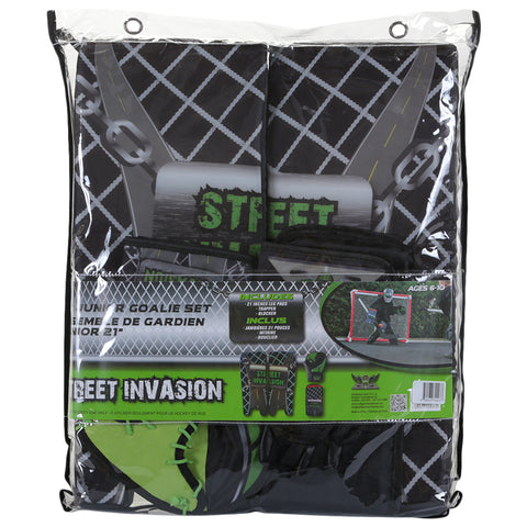 STREET INVASION STREET HOCKEY GOALIE SET 21'' GREEN
