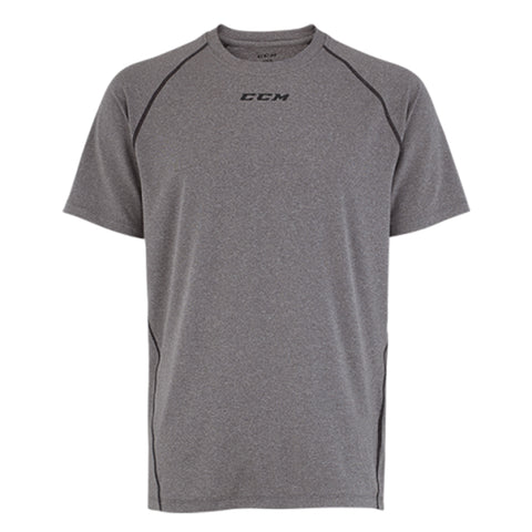 CCM PERFORMANCE SHORT SLEEVE TRAINING TOP HEATHER GREY
