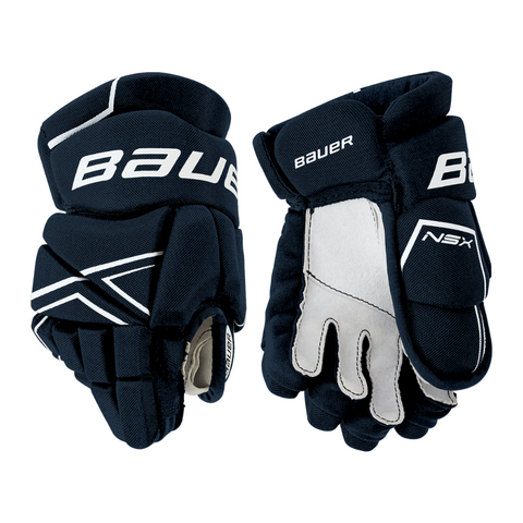 BAUER NSX YTH HOCKEY GLOVES NAVY