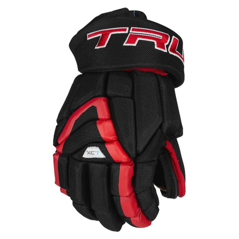 TRUE XC7 PRO Z-PALM JR HOCKEY GLOVES BLACK/RED