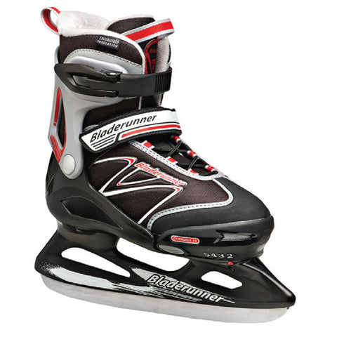 BLADERUNNER MICRO XT ICE ADJUSTABLE SKATES SIZE 5-8 BLACK/RED