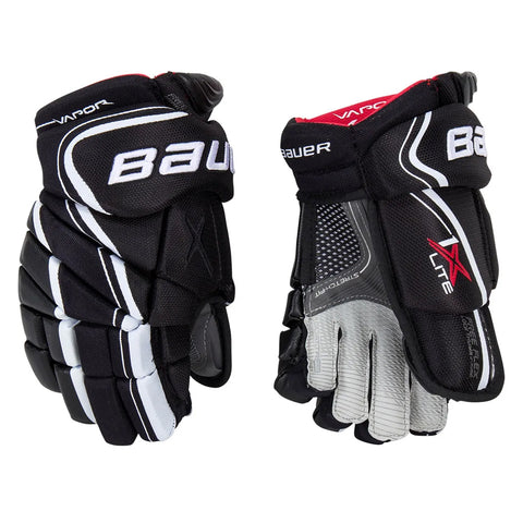 BAUER VAPOR 1X LITE SR HOCKEY GLOVES BLACK/WHITE