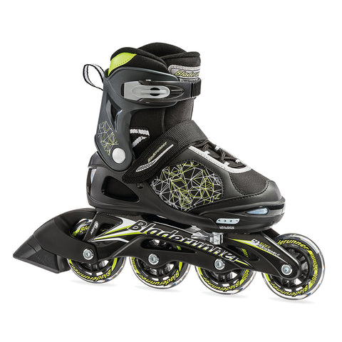 BLADERUNNER PHASER FLASH BOY'S ADJUSTABLE INLINE SKATES BLACK/GREEN SIZES