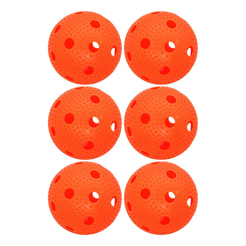 ACCUFLI FLOORBALL 6 PACK ORANGE