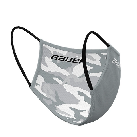 BAUER REVERSIBLE FACE MASK (NON-MEDICAL) GREY/CAMO