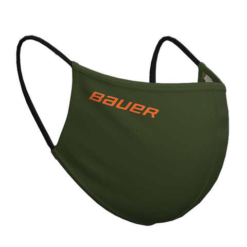 BAUER REVERSIBLE FACE MASK (NON-MEDICAL) GREEN/CAMO