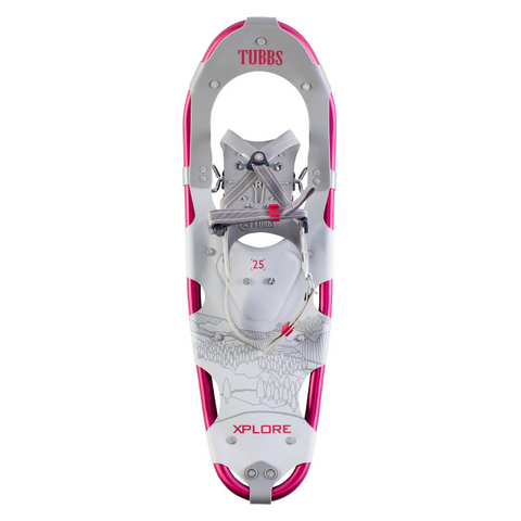 TUBBS XPLORE WOMENS SNOWSHOE KIT 25 INCH WHITE/GREY