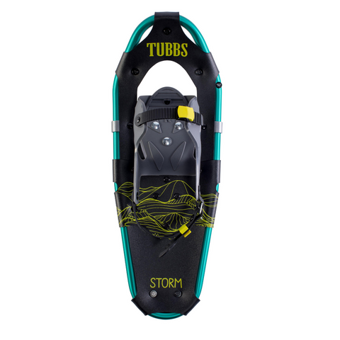TUBBS STORM JR SNOW SHOES 19 INCH BLACK/GREEN