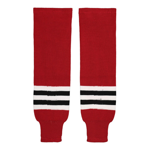 SHERWOOD TEAM KNIT YTH HOCKEY SOCKS 20 INCH CHICAGO RED