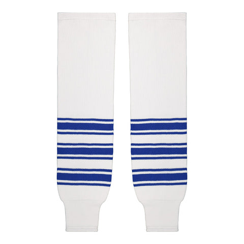 SHERWOOD TEAM KNIT YTH HOCKEY SOCKS 20 INCH TORONTO WHITE
