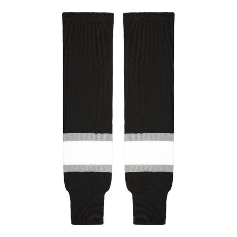 SHERWOOD TEAM KNIT SR HOCKEY SOCKS 28 INCH LA BLACK