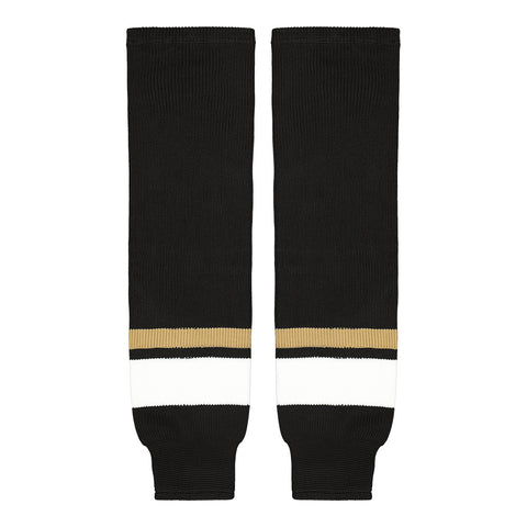 SHERWOOD TEAM KNIT SR HOCKEY SOCKS 28 INCH PITTSBURGH BLACK