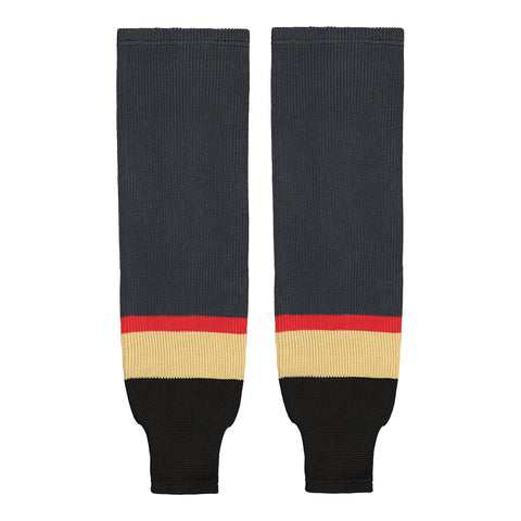 SHERWOOD TEAM KNIT SR HOCKEY SOCKS 28 INCH VEGAS CHARCOAL