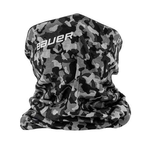 BAUER REVERSIBLE FABRIC GAITER BLACK/CAMO