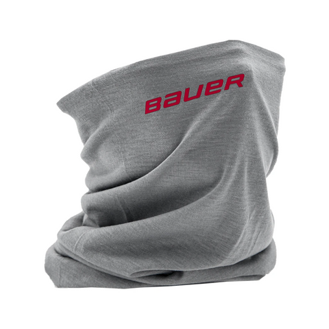 BAUER REVERSIBLE FABRIC GAITER GREY/BAUER