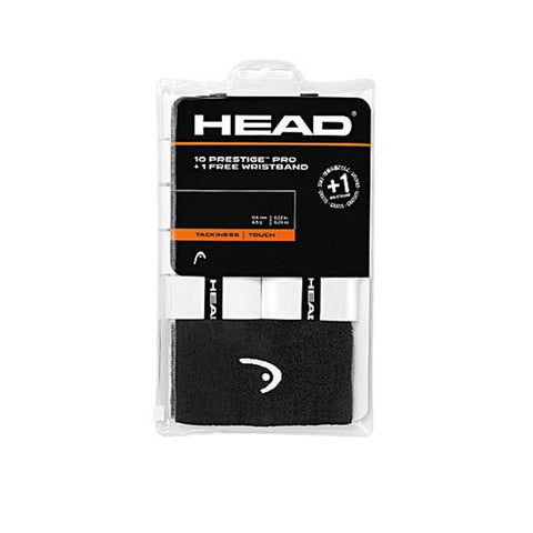 HEAD PRESTIGE PRO GRIP 10 PACK WITH WRISTBAND