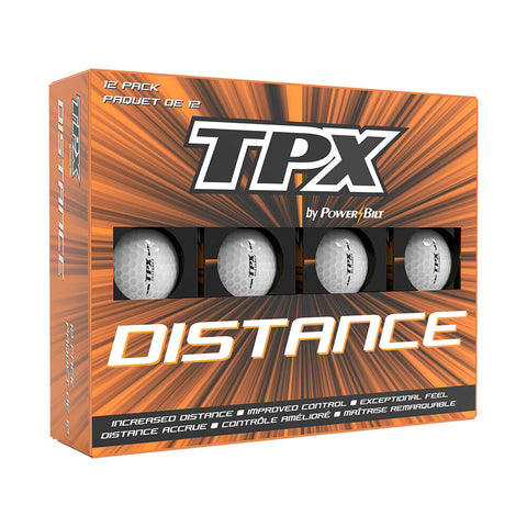 POWERBILT TPX DISTANCE GOLF BALLS 12PK