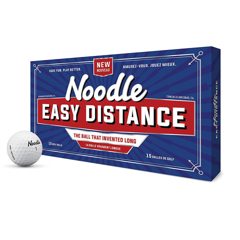 TAYLOR MADE NOODLE EASY DISTANCE GOLF BALLS 15 PACK
