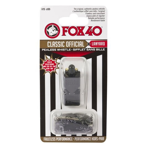 FOX 40 CLASSIC REFEREE WHISTLE BLACK