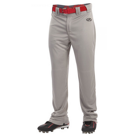 RAWLINGS MENS LAUNCH SEMI RELAXED GREY BASEBALL PANT