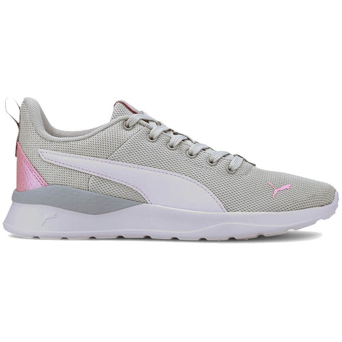 PUMA GIRLS GRADE SCHOOL ANZARUN LITE KIDS SHOE GREY/WHITE/PINK