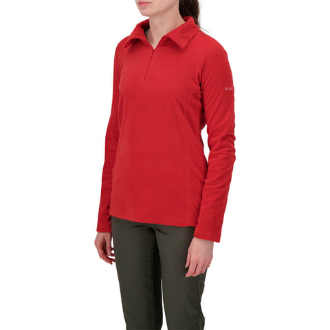 COLUMBIA WOMEN'S GLACIAL FLEECE HALF ZIP RED