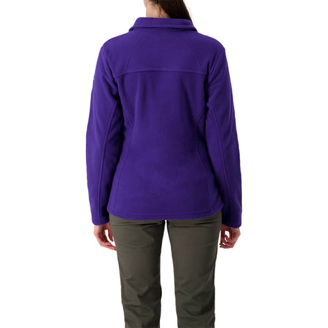 COLUMBIA WOMEN'S  GIVE AND GO FULL ZIP PURPLE