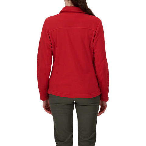 COLUMBIA WOMEN'S GIVE AND GO FULL ZIP RED