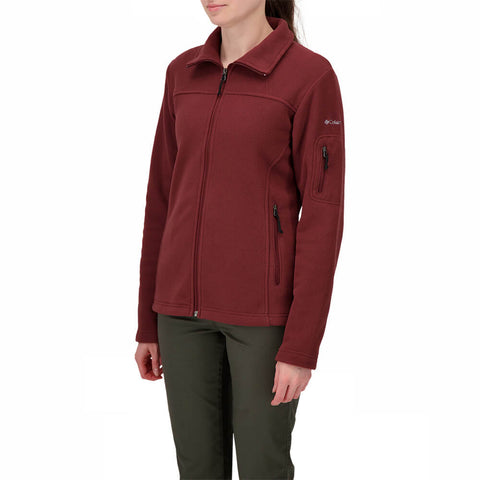 COLUMBIA WOMEN'S GIVE AND GO FULL ZIP MAROON