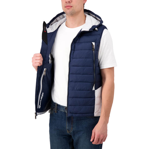 PAJAR MEN'S ELM VEST WITH HOOD NAVY/GREY