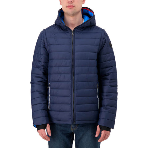 PAJAR MEN'S REED LIGHTWEIGHT PACKABLE JACKET NAVY