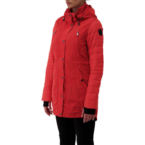PAJAR WOMEN'S IRIS QUILTED SLEEVE RAINCOAT CARDINAL RED