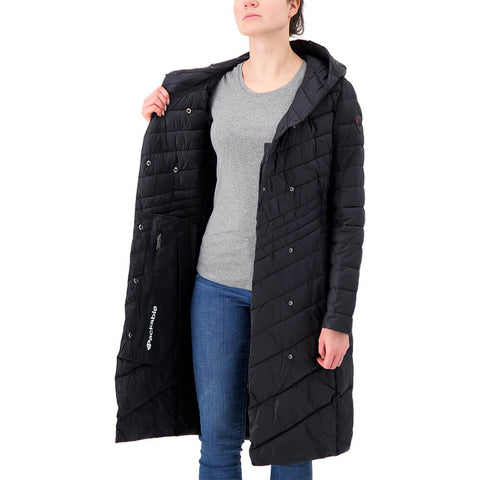 PAJAR WOMEN'S CAMELIA LONG JACKET CAVIAR