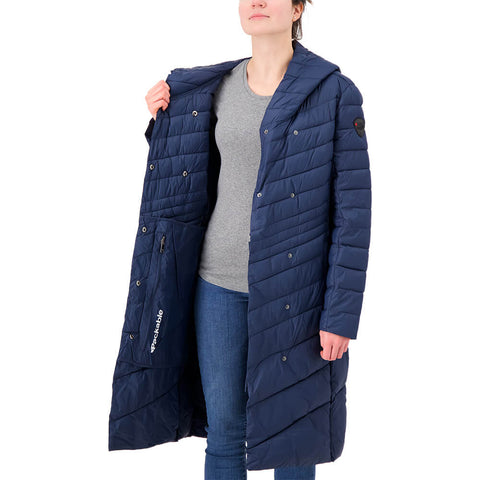 PAJAR WOMEN'S CAMELIA LONG JACKET NAVY