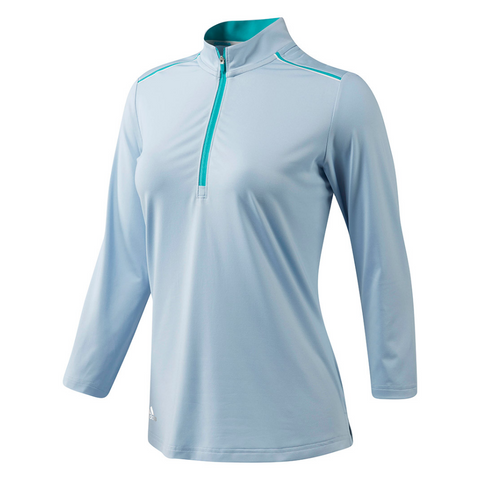 ADIDAS WOMEN'S CLIMACOOL LONG SLEEVE POLO VISION BLUE
