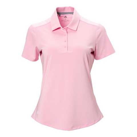 ADIDAS WOMEN'S ULTIMATE365 HEATHER SHORT SLEEVE POLO TRUE PINK