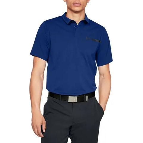 UNDER ARMOUR MEN'S PERPETUAL WOVEN POLO BLUE