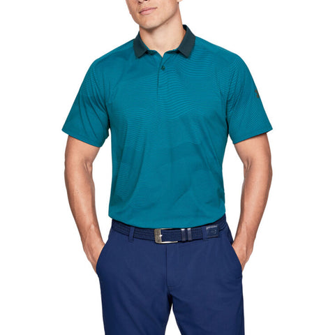UNDER ARMOUR MEN'S ISO CHILL POLO GREEN